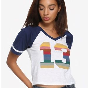 Doctor Who Thirteen Cropped Athletic T-Shirt